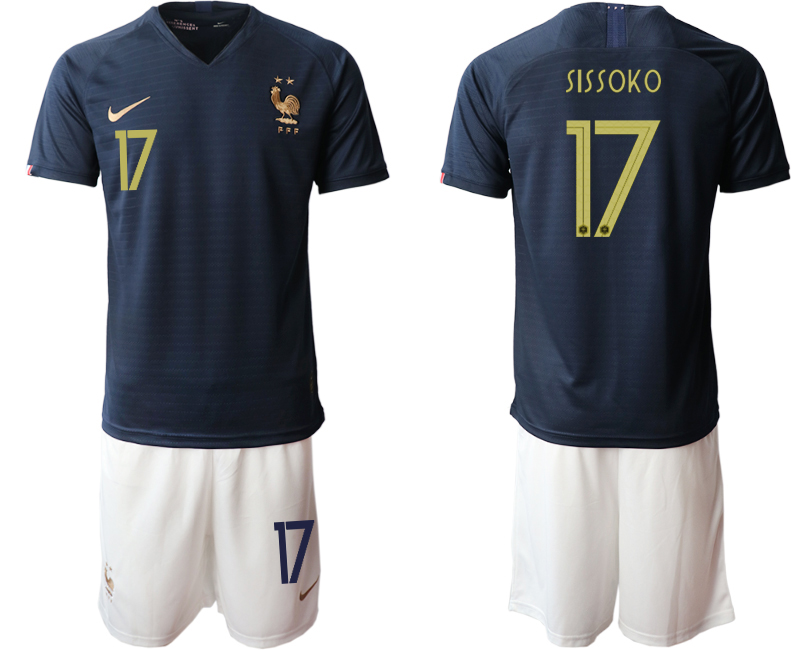 2019-20 France 17 SISSOKO Home Soccer Jersey