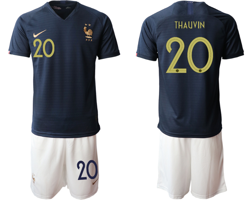 2019-20 France 20 THAUVIN Home Soccer Jersey