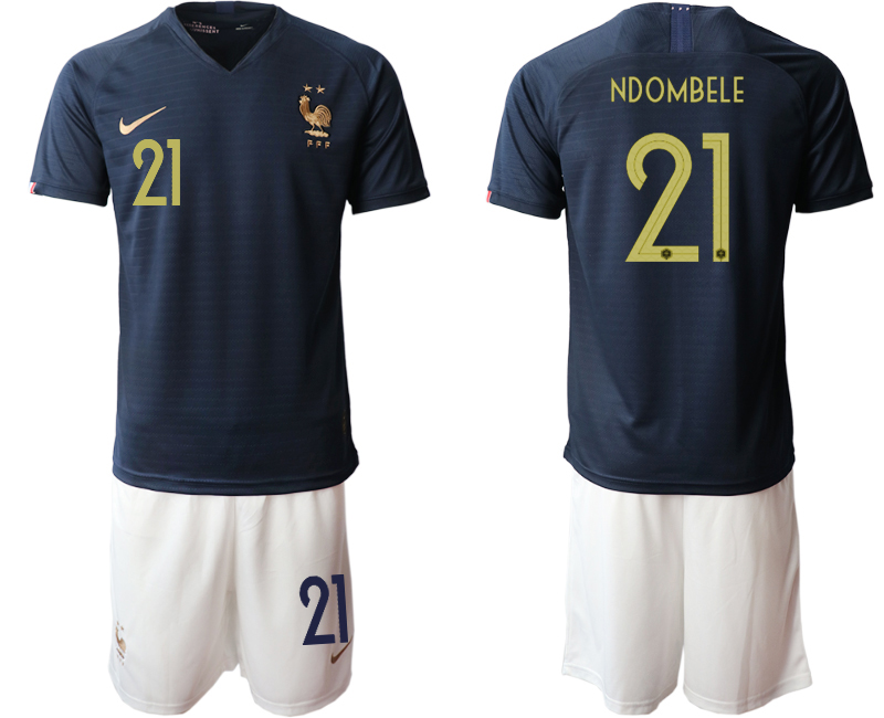2019-20 France 21 NDOMBELE Home Soccer Jersey
