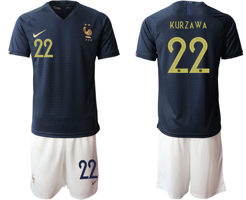 2019-20 France 22 KURZAWA Home Soccer Jersey