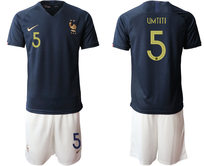 2019-20 France 5 UMTITI Home Soccer Jersey