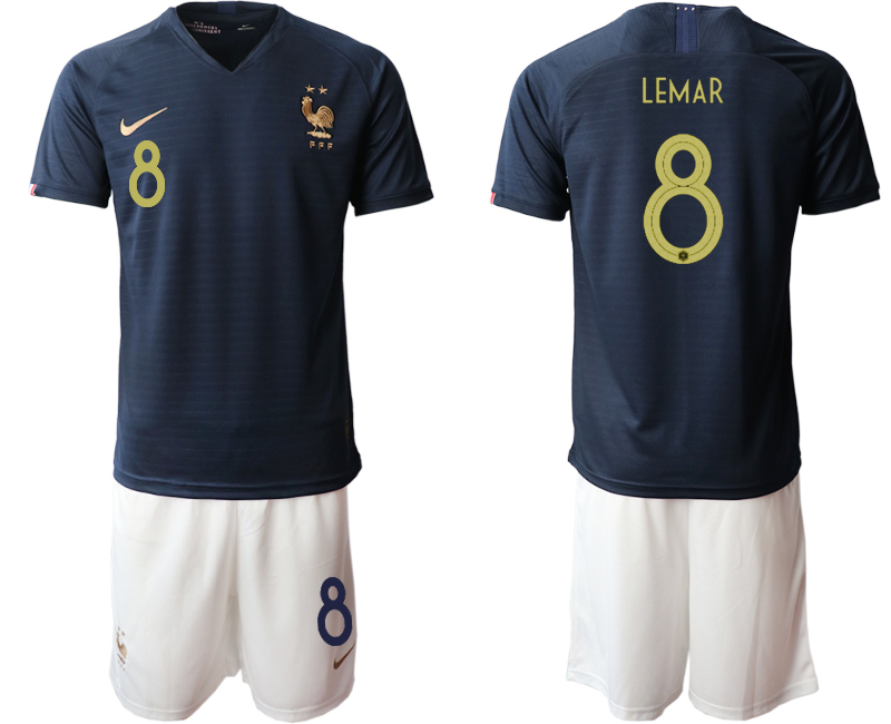 2019-20 France 8 LEMAR Home Soccer Jersey