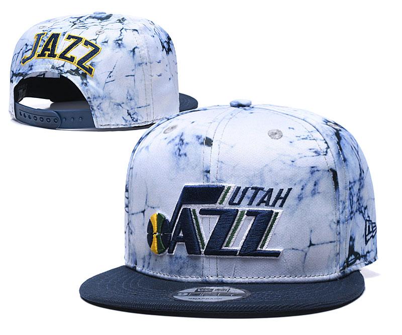 Jazz Team Logo Smoke Navy Adjustable Hat TX