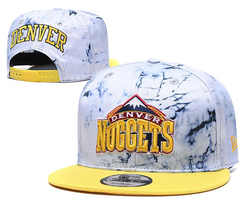 Nuggets Team Logo Smoke Yellow Adjustable Hat TX