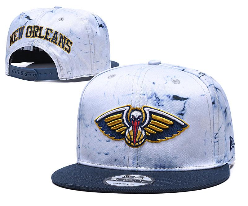 Pelicans Team Logo Smoke Navy Adjustable Hat TX