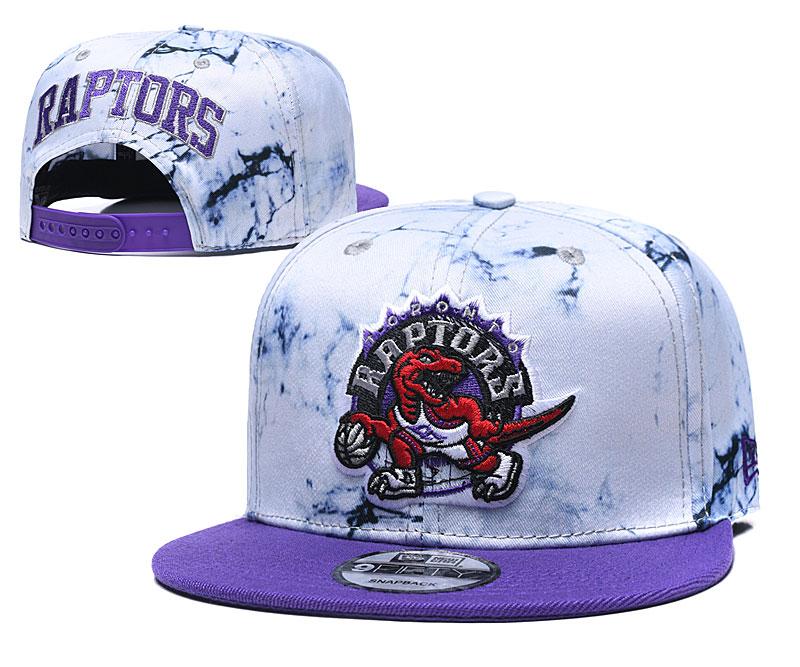 Raptors Team Logo Smoke Purple Adjustable Hat TX
