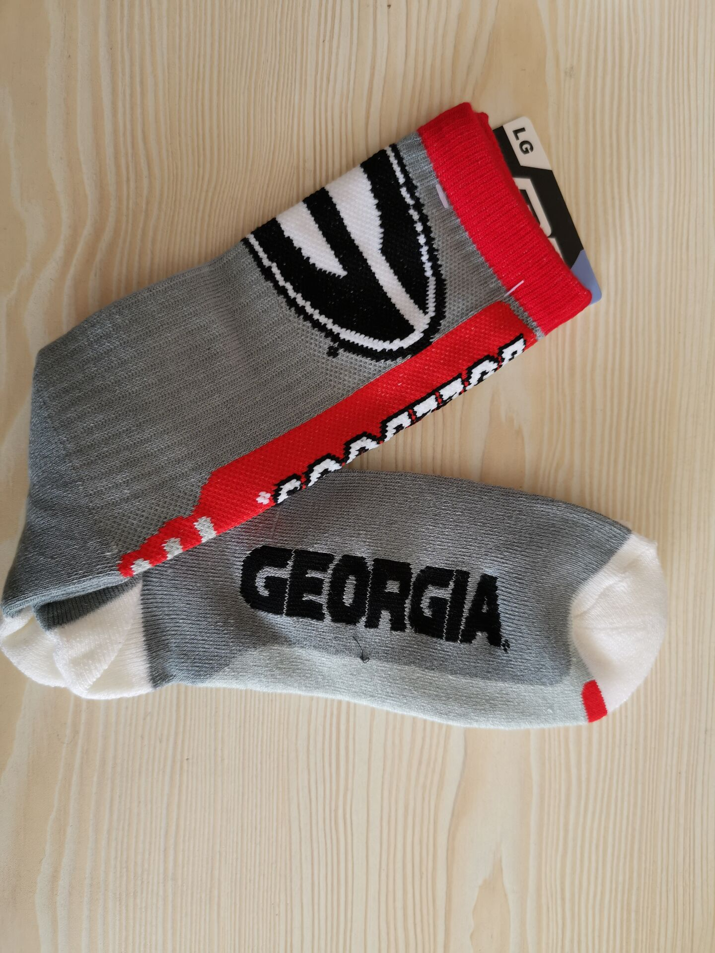 Georgia Bulldogs Team Logo Gray NCAA Socks