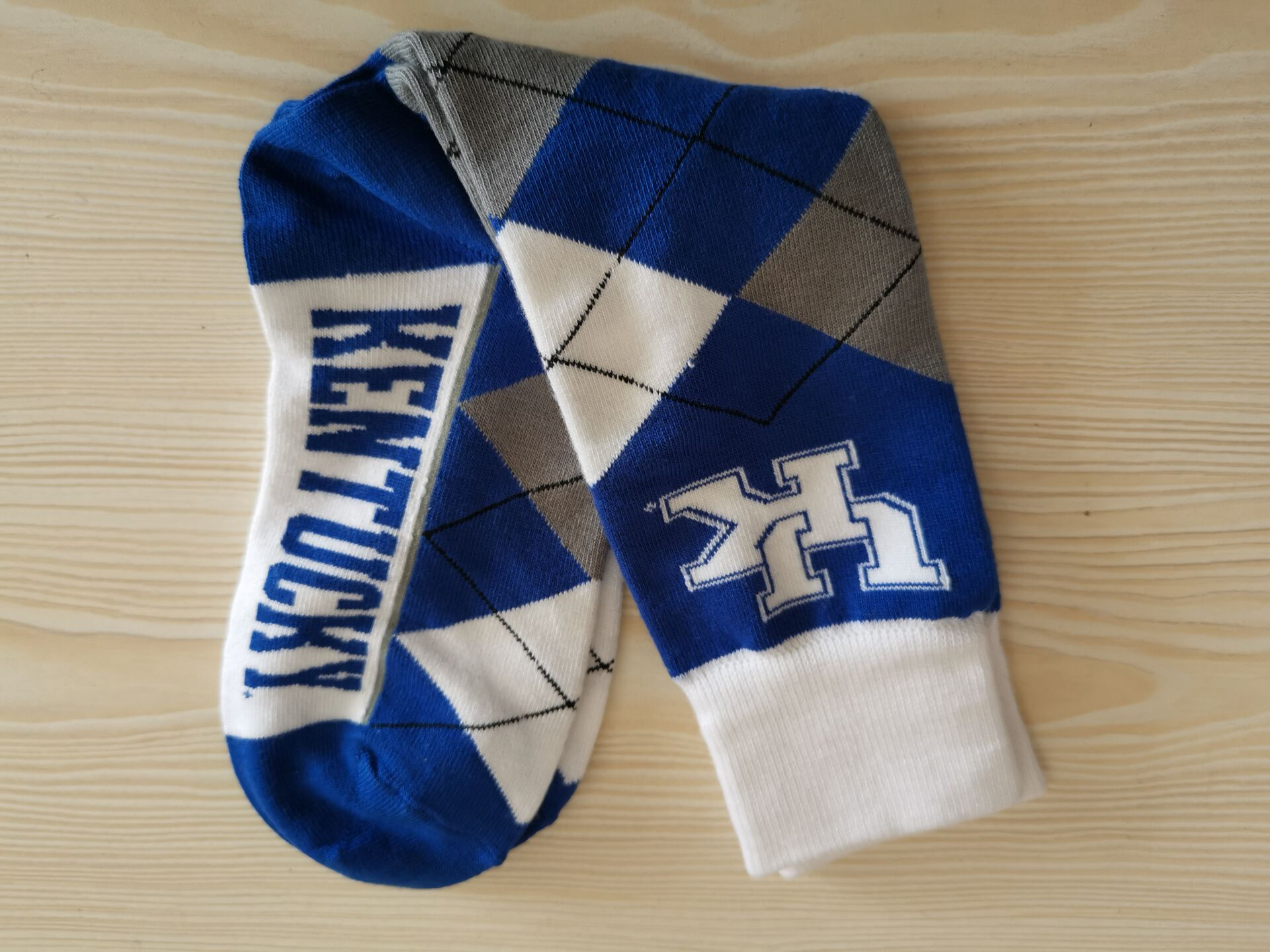 Kentucky Wildcats Team Logo Gray Bule NCAA Socks