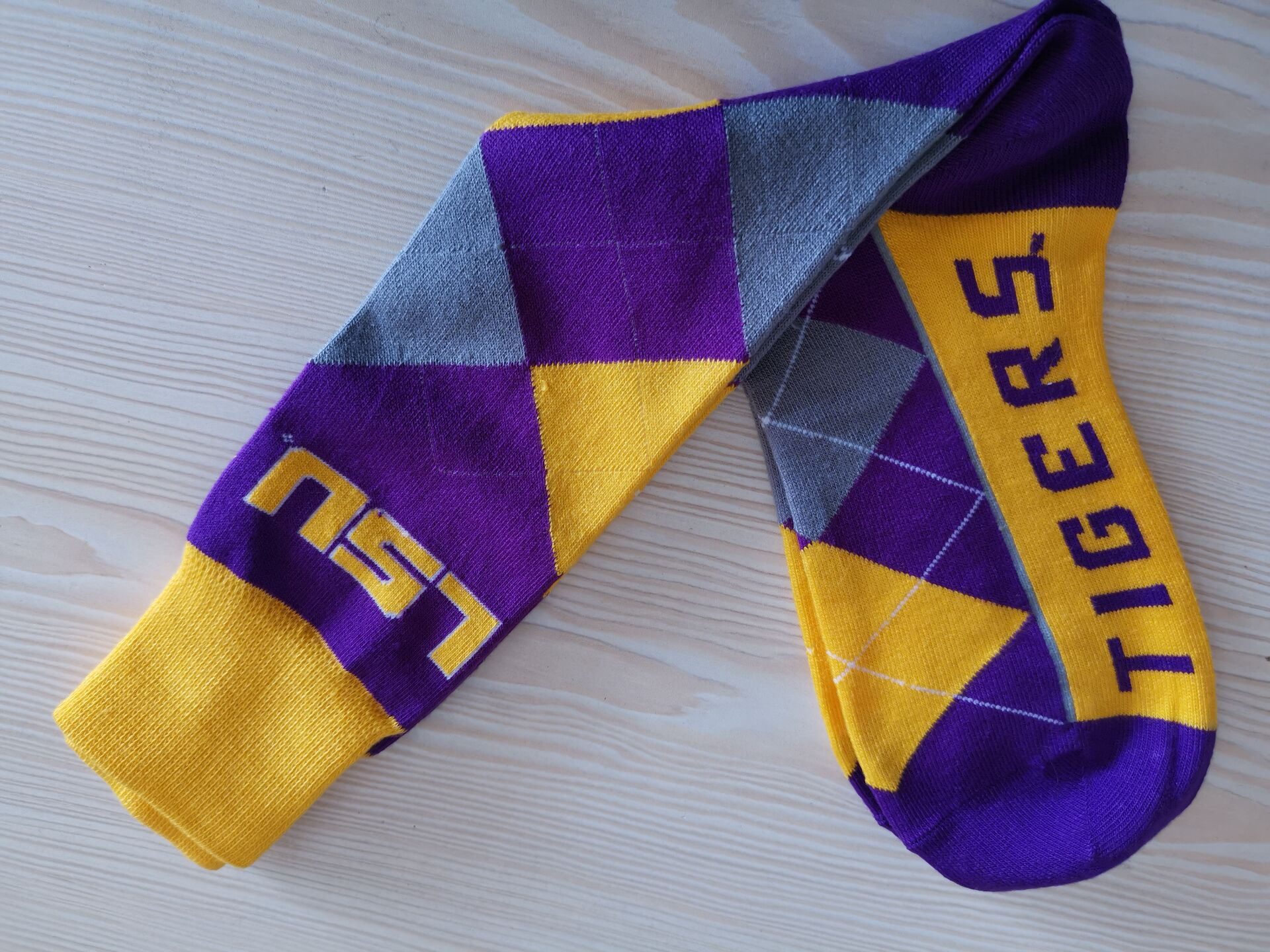 LSU Tigers Team Logo NCAA Socks