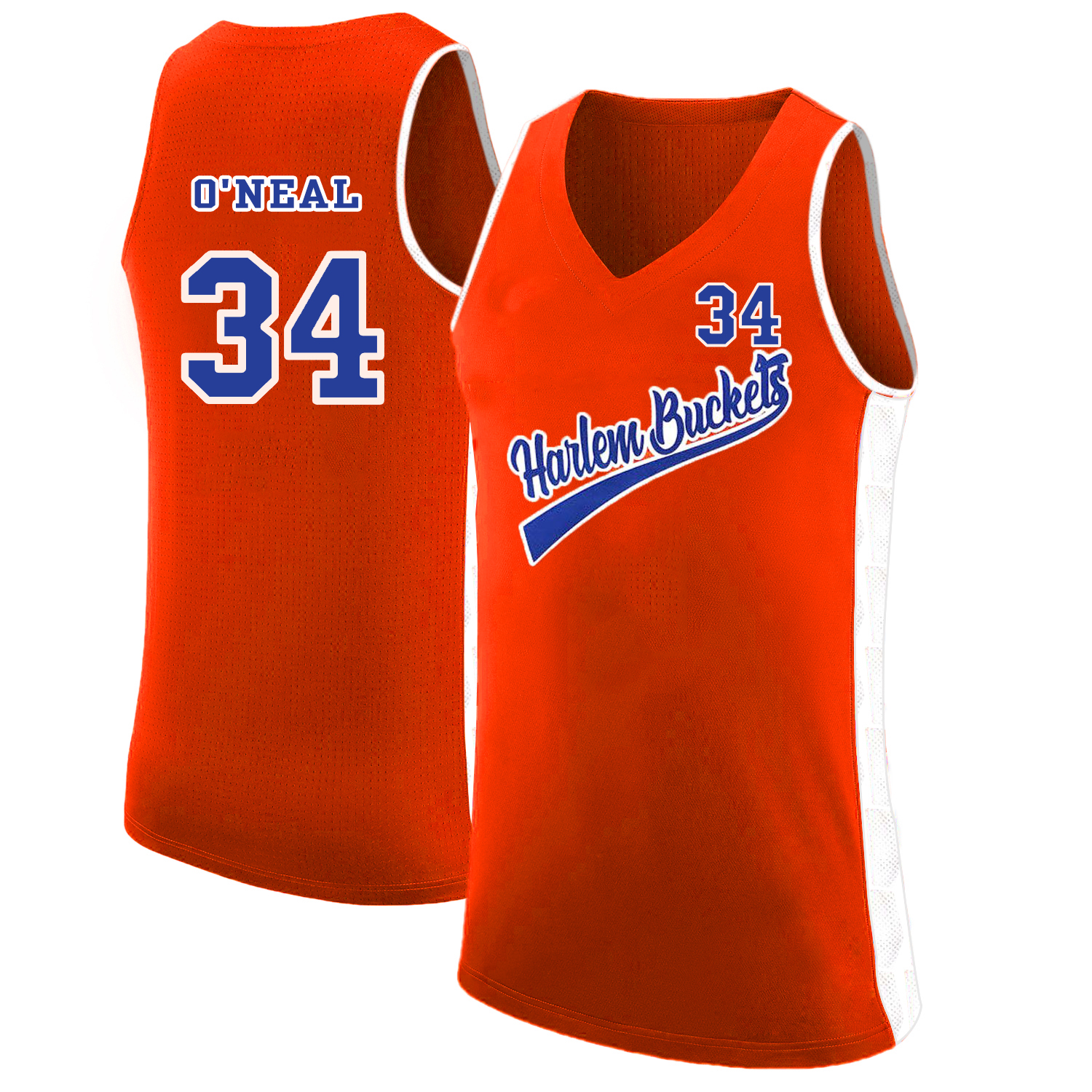 Harlem Buckets 34 Shaquille O'Neal Orange Uncle Drew Basketball Jersey