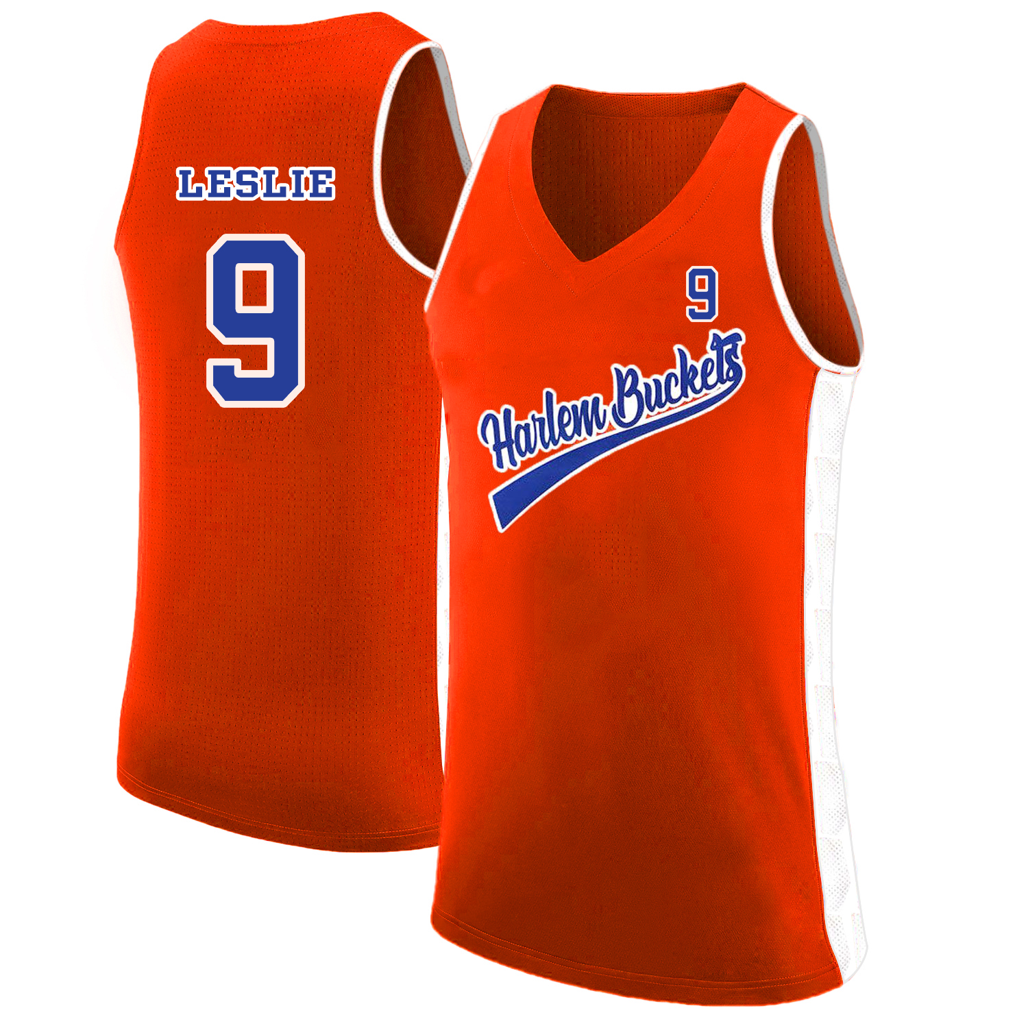 Harlem Buckets 9 Lisa Leslie Orange Uncle Drew Basketball Jersey