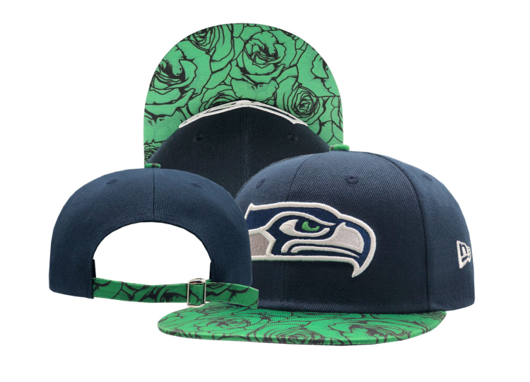 Seahawks Team Logo Navy Adjustable Hat SF
