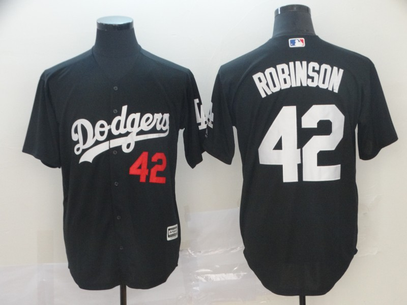 Dodgers 42 Jackie Robinson Black Turn Back The Clock Cool Base Jersey