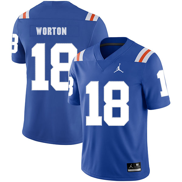 Florida Gators 18 C.J. Worton Blue Throwback College Football Jersey.jpeg