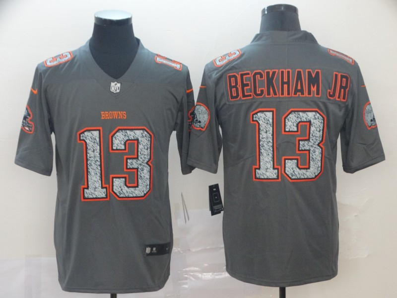 Nike Browns 13 Odell Beckham Jr. Gray Camo Vapor Untouchable Limited Jersey