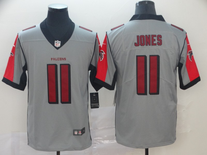 Nike Falcons 11 Julio Jones Gray Inverted Legend Limited Jersey
