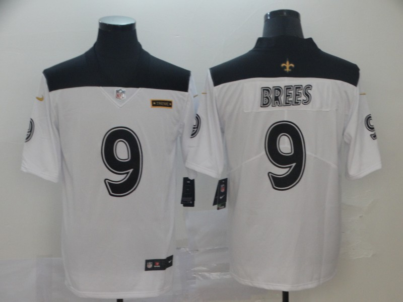 Nike Saints 9 Drew Brees White City Edition Vapor Untouchable Limited Jersey