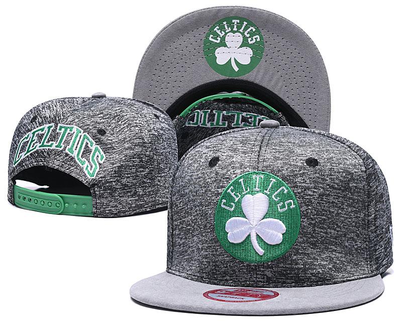 Celtics Fresh Logo Gray Adjustable Hat TX