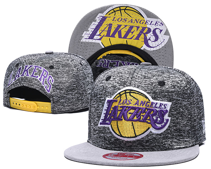 Lakers Team Logo Gray Adjustable Hat TX