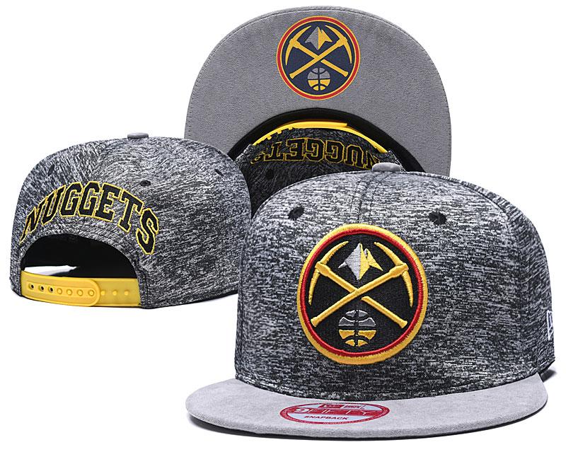 Nuggets Team Logo Gray Adjustable Hat TX