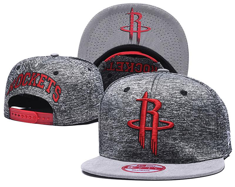 Rockets Team Logo Gray Adjustable Hat TX
