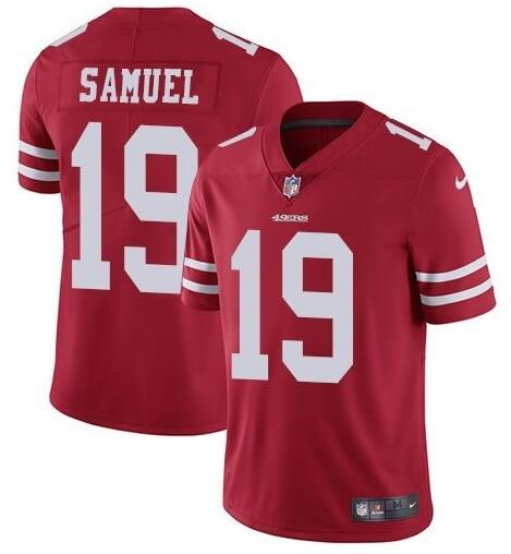 Nike 49ers 19 Deebo Samuel Red Vapor Untouchable Limited Jesey
