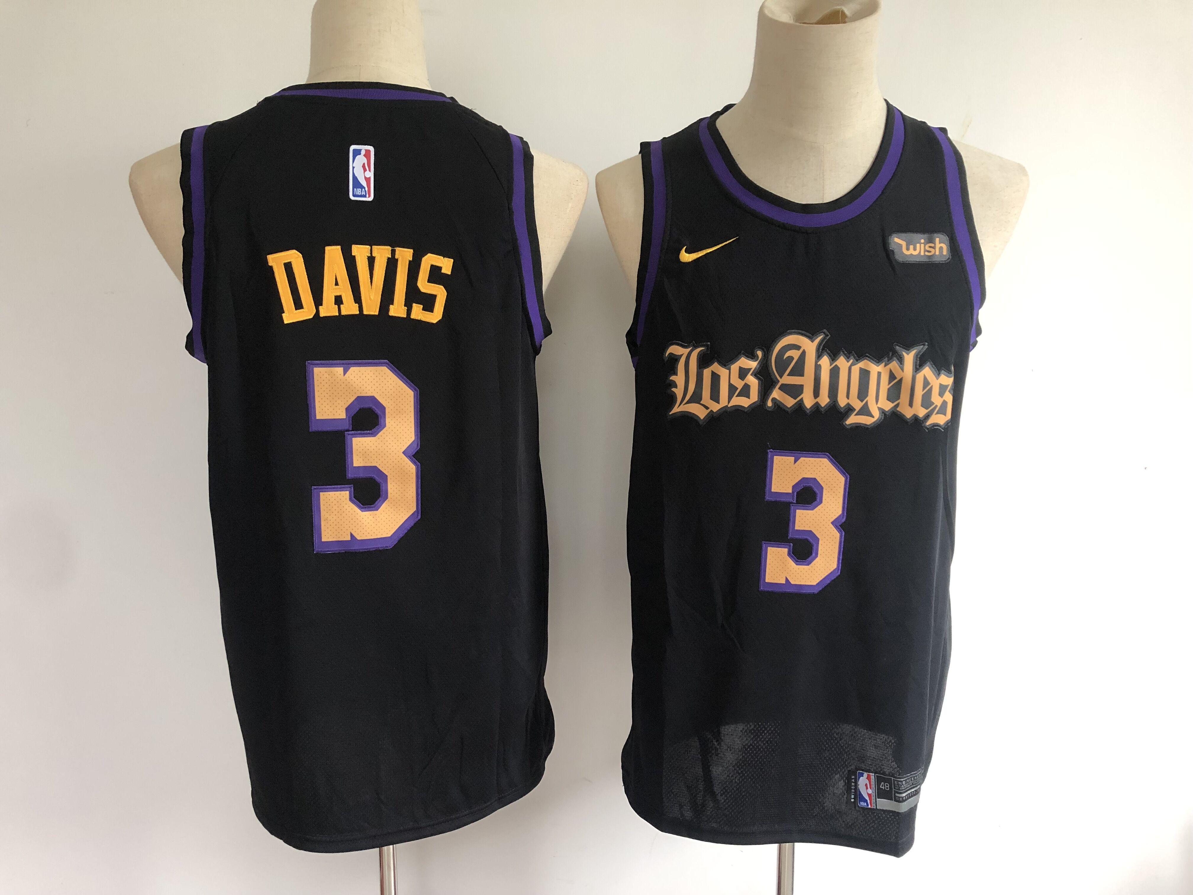 Lakers 3 Anthony Davis Black Nike Swingman Jersey