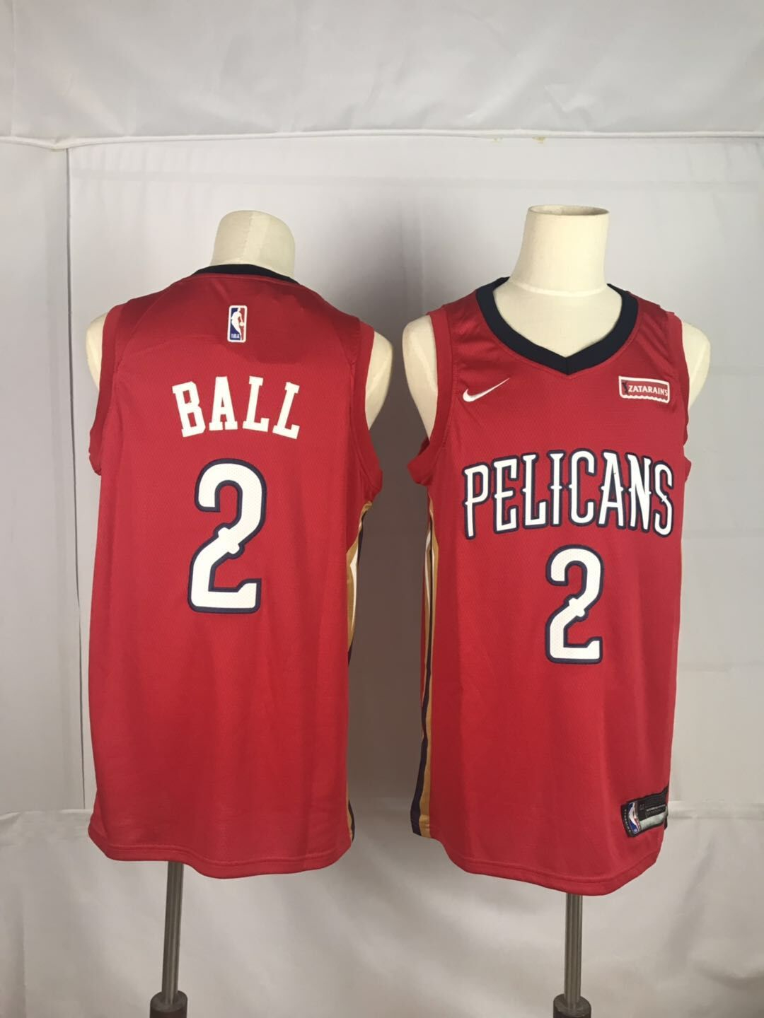 Pelicans 2 Lonzo Ball Red Nike Swingman Jersey