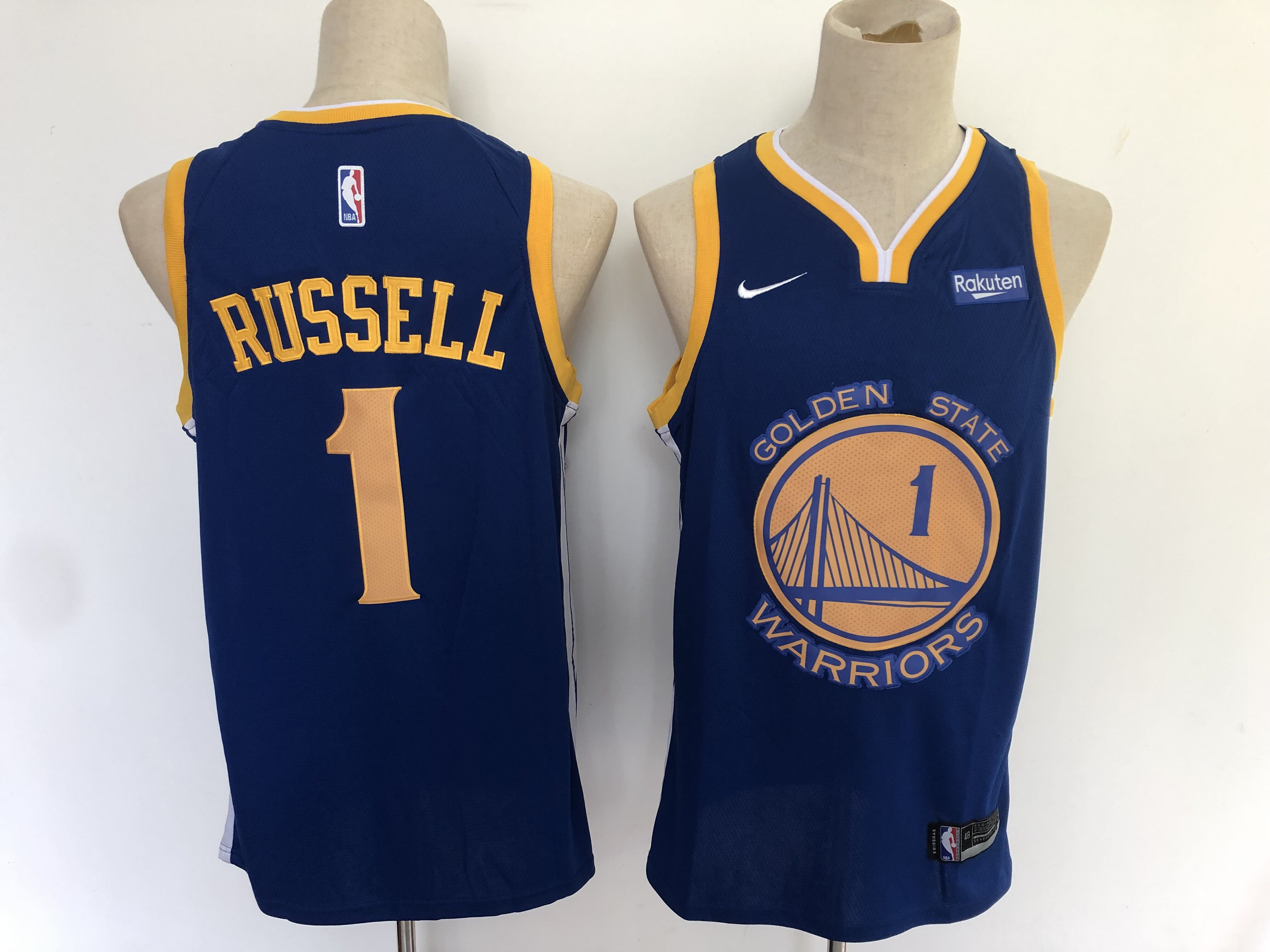 Warriors 1 D'angelo Russell Navy City Edition Nike Swingman Jersey