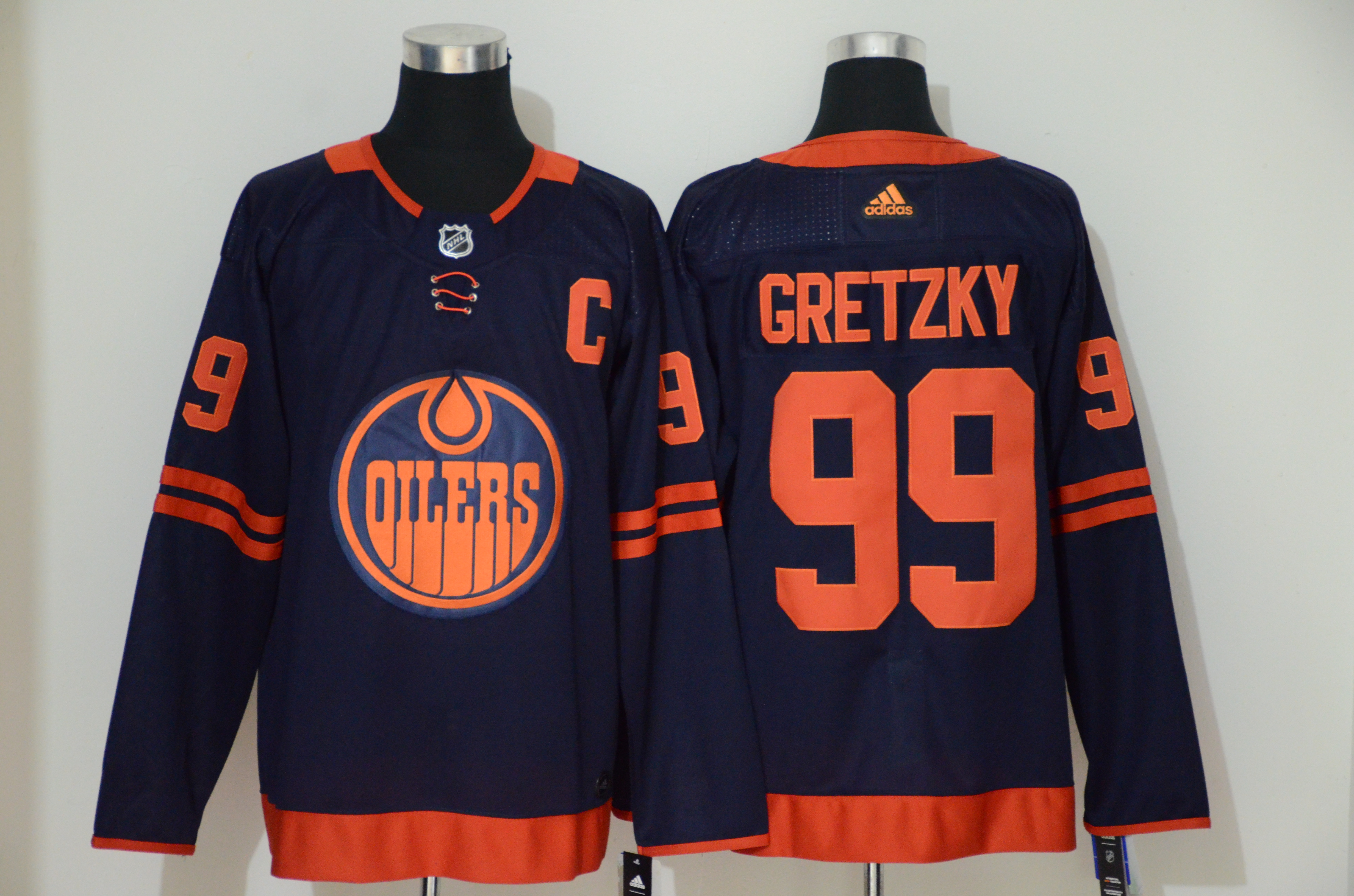Oilers 99 Wayne Gretzky Navy 50th anniversary Adidas Jersey