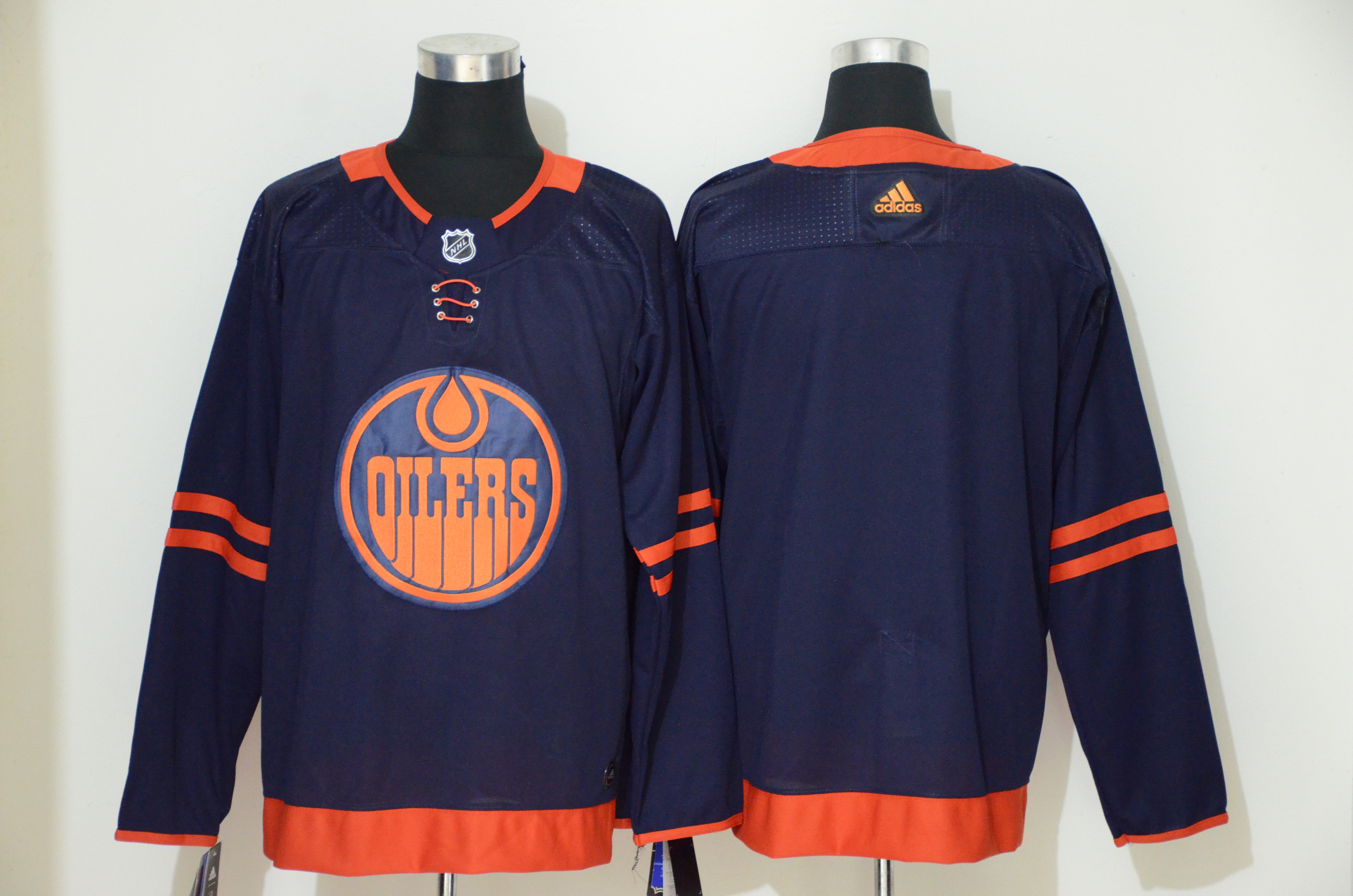 Oilers Blank Navy 50th anniversary Adidas Jersey