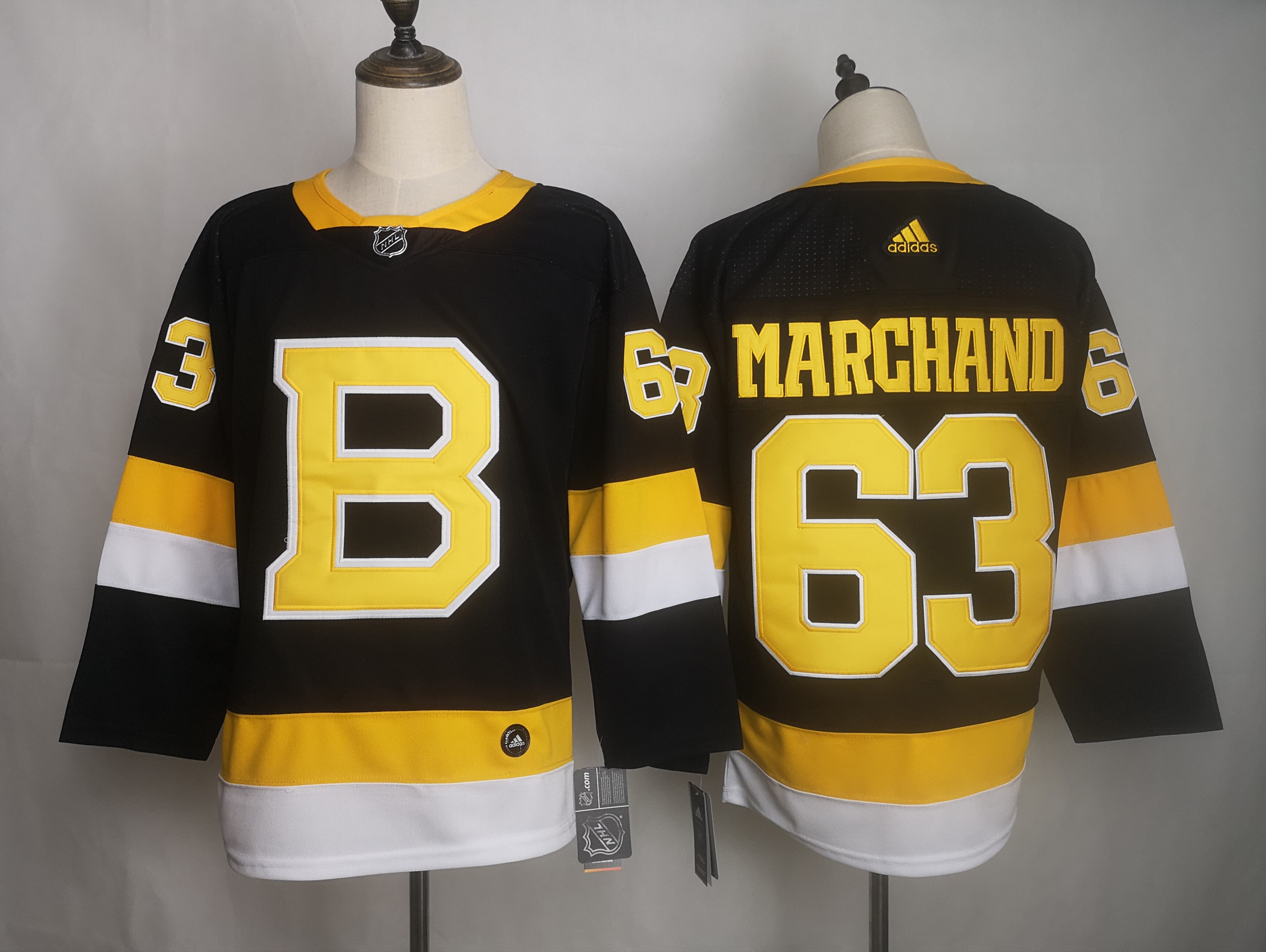 Bruins 63 Brad Marchand Black Adidas Jersey
