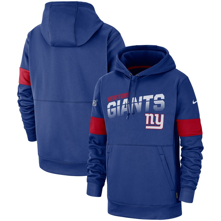 New York Giants Nike Sideline Team Logo Performance Pullover Hoodie Royal