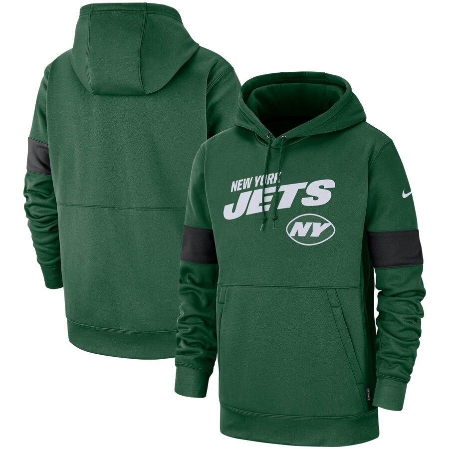 New York Jets Nike Sideline Team Logo Performance Pullover Hoodie Green