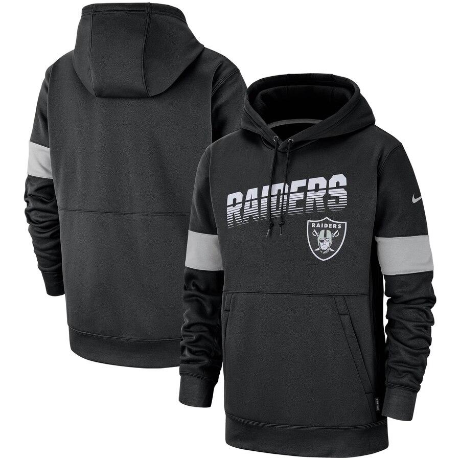 Oakland Raiders Nike Sideline Team Logo Performance Pullover Hoodie Black
