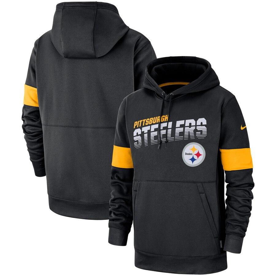 Pittsburgh Steelers Nike Sideline Team Logo Performance Pullover Hoodie Black