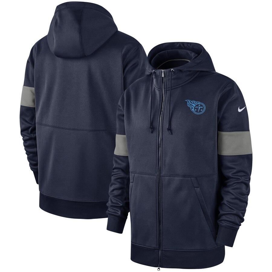 Tennessee Titans Nike Sideline Performance Full Zip Hoodie Navy
