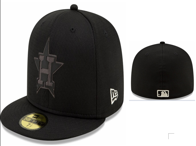 Astros Team Logo Black Fitted Hat LX
