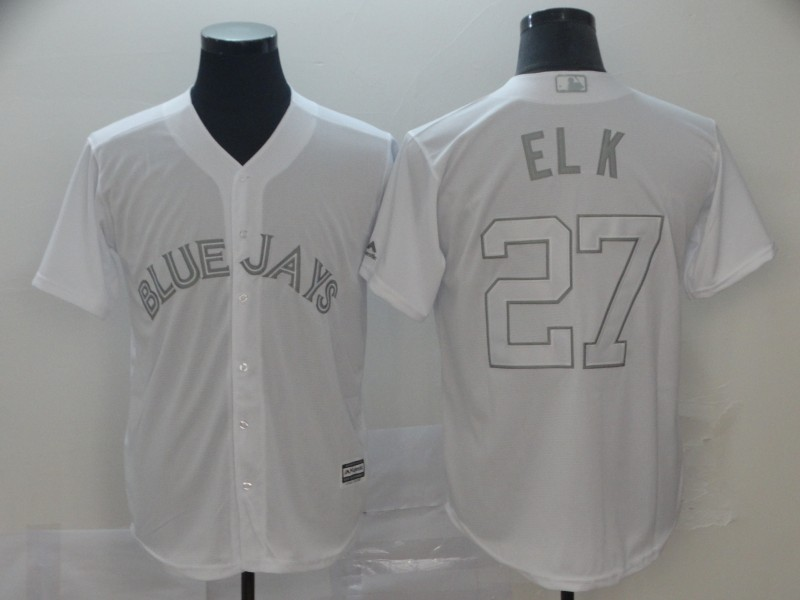 "Blue Jays 27 Vladimir Guerrero Jr. ""El K"" White 2019 Players' Weekend Player Jersey"