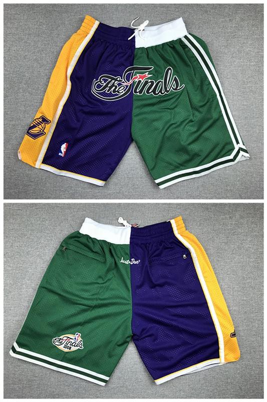 Lakers And Celtics Team 2008 NBA Finals Logo Shorts