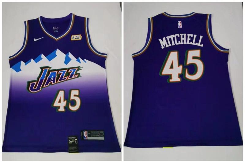 Jazz 45 Donovan Mitchell Purple Nike Swingman Jersey