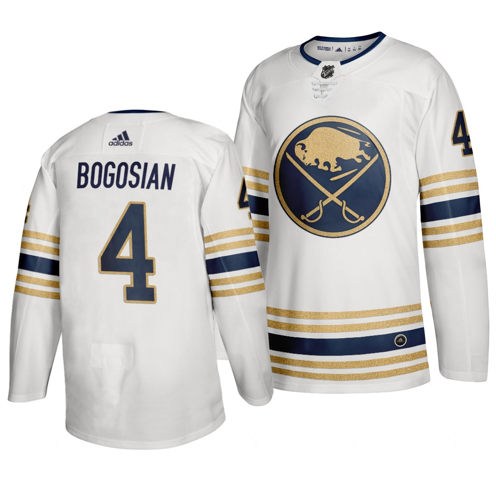 Sabres 4 Zach Bogosian White 50th anniversary Adidas Jersey