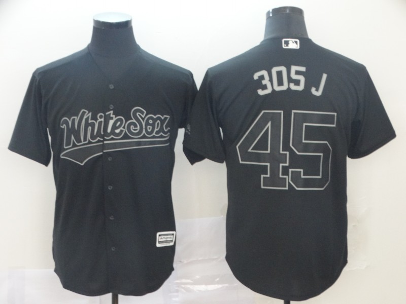 "White Sox 45 Michael Jordan ""305 J"" Black 2019 Players' Weekend Player Jersey"