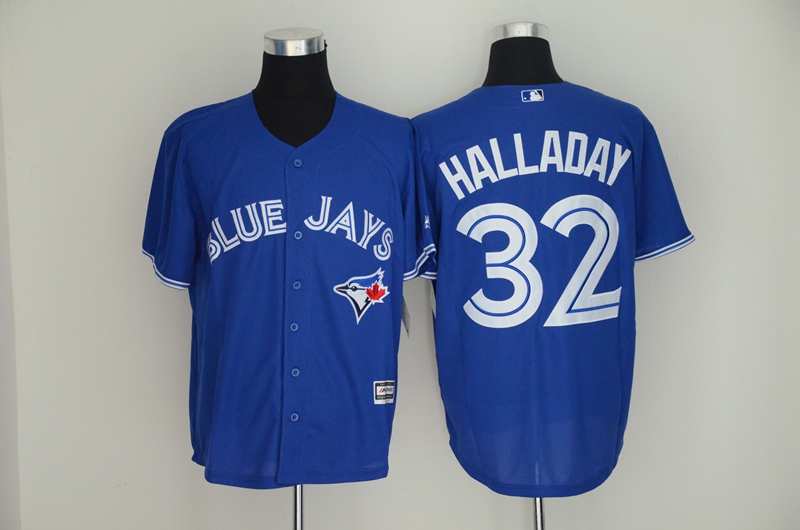 Blue Jays 32 Roy Halladay Royal Cool Base Jersey