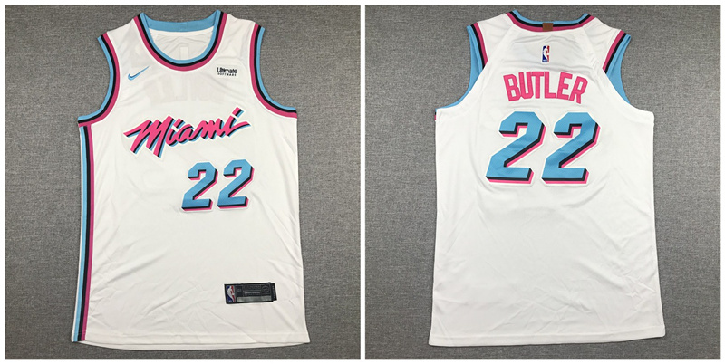 Heat 22 Jimmy Butler White City Edition Nike Authentic Jersey
