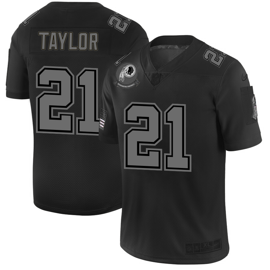 Nike Redskins 21 Sean Taylor 2019 Black Salute To Service Fashion Limited Jersey