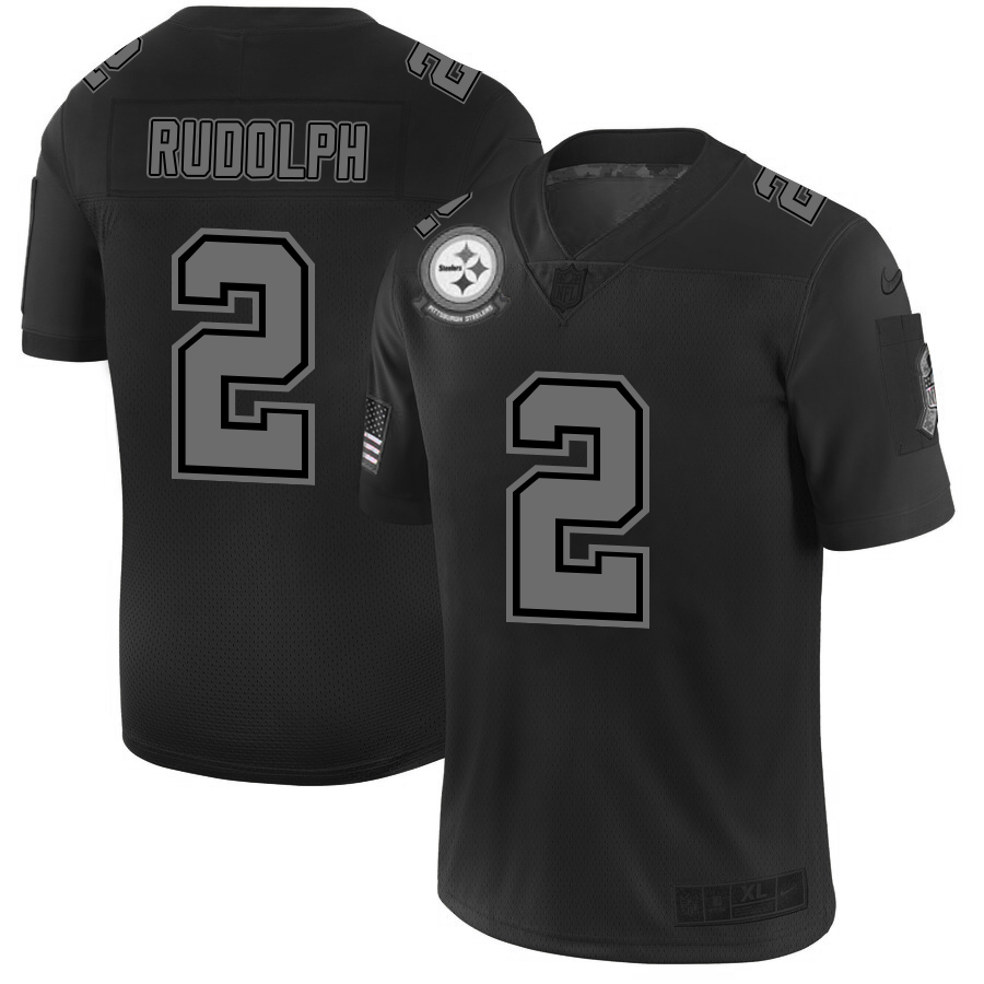 Nike Steelers 2 Mason Rudolph 2019 Black Salute To Service Fashion Limited Jersey