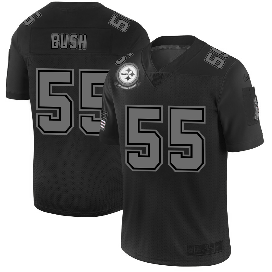 Nike Steelers 55 Devin Bush 2019 Black Salute To Service Fashion Limited Jersey