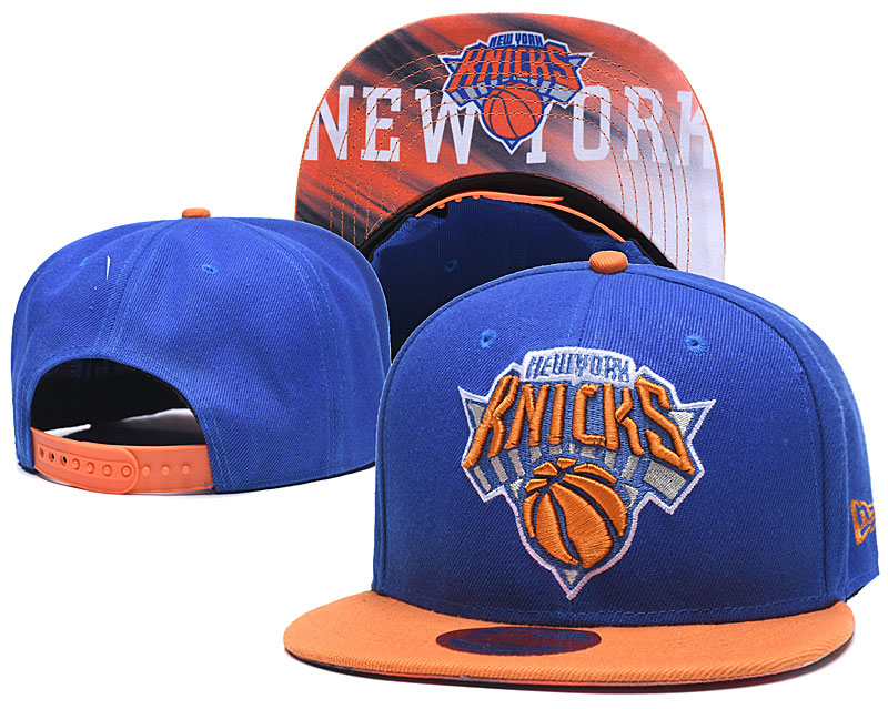 Knicks Team Logo Blue Adjustable Hat LH
