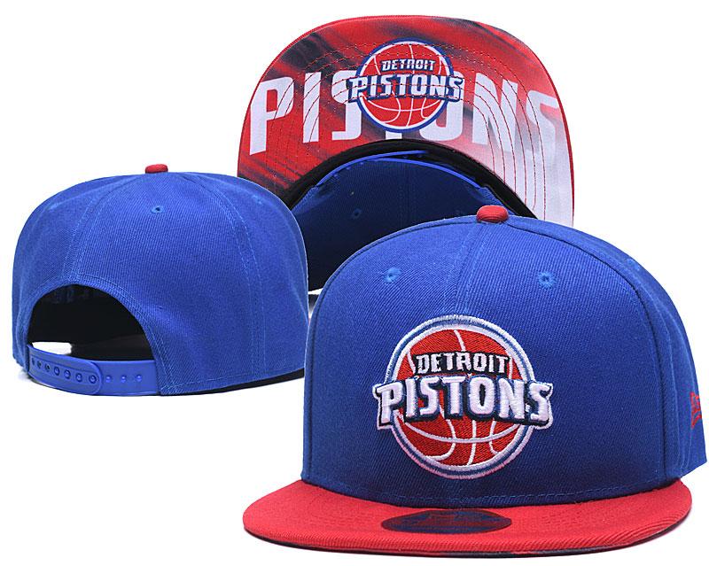 Pistons Team Logo Blue Red Adjustable Hat LH